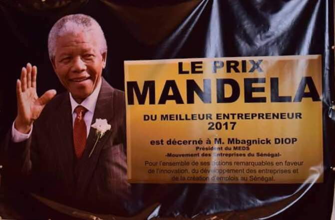 prix nelson mandela du meilleur entrepreneur mbagnick diop honor aujourd hui paris. Black Bedroom Furniture Sets. Home Design Ideas